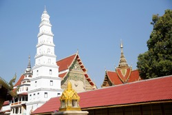 Phra Bat Huai Tom Temple, there is the center of the Karen village in Li District, Lamphun Province, Thailand