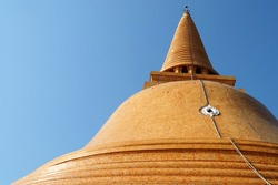 Phra Pathom Chedi, The Tallest Stupa in The world located at Nakhon Pathom Province, Thailand.