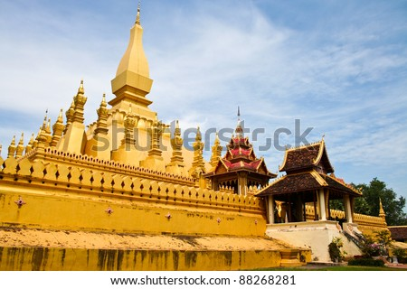 Phra That Luang at vientiane, in Laos