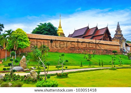 Phra That Luang Lampang temple,north of thailand.