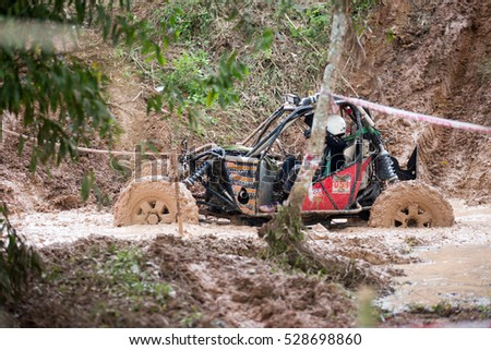 PHRASAENG, SURATTHANI - November 19, 2016: off-road vehicle cars moving on the off road at competitions, phrasaeng, Thailand. Suratthani. #528698860