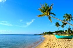 Phu Choc beach Vietnam blue sky