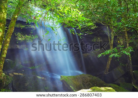 Phu Kradueng national park ,nature tham yai waterfall #286807403