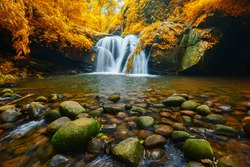 Phu Soi Dao waterfall national park, in Uttaradit province, Thailand.