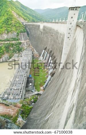 Phumiphol dam in Tak, Thailand