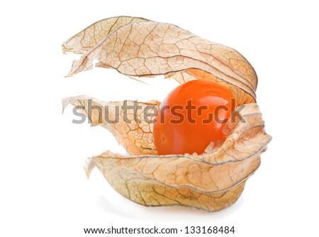 Physalis fruit closeup isolated on white #133168484