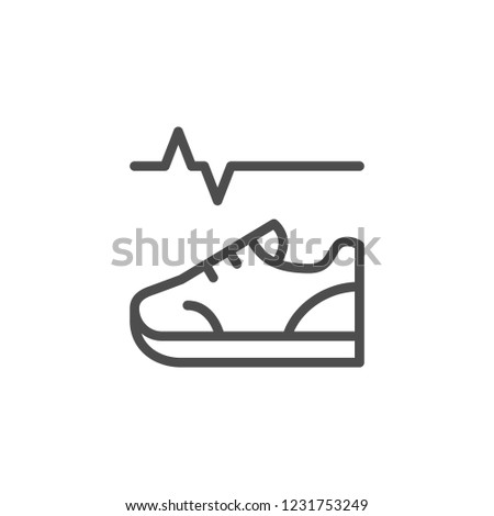 Physical activity line icon isolated on white