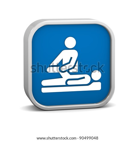 Physical therapy sign on a white background. Part of a series.