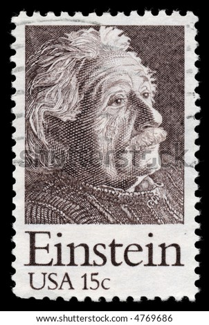 Physicist Albert Einstein on a stamp