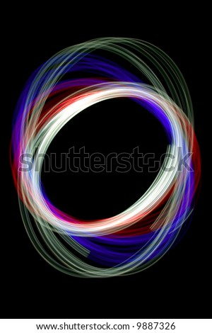 Physiogram with red,green and blue filters.