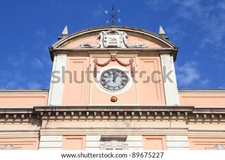 Piacenza, Italy - Emilia-Romagna region. Neoclassical building - Palazzo del Governatore.