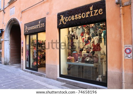 PIACENZA - OCTOBER 5: Accessorize store on October 5, 2010 in Piacenza, Italy. Monsoon Accessorize is a high street brand operating about 1000 stores. The company entered the US market in 2010.