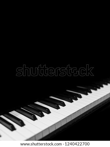 Piano and Piano keyboard #1240422700