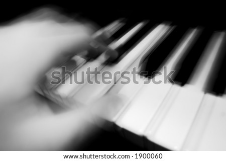 Piano being Played