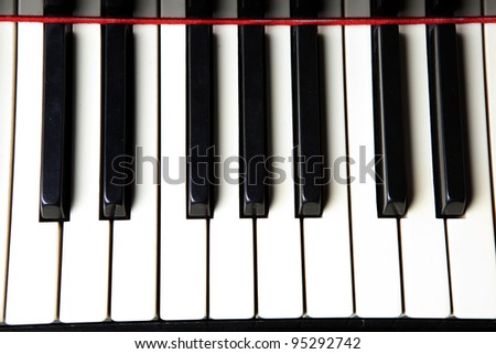 Piano Black and White Keys, Closeup