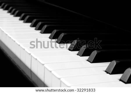 piano closeup, shallow depth of field