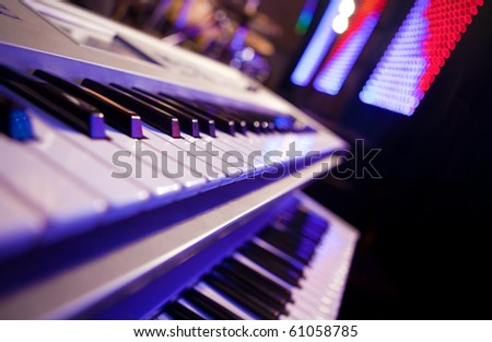 piano detail Stage Lighting