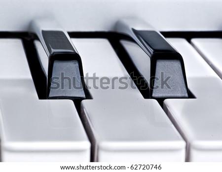 Piano key closeup
