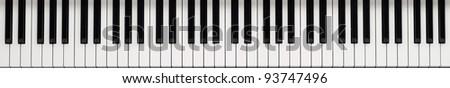 Piano keyboard background - stock photo