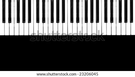 Piano Black Background Piano Keyboard on Black