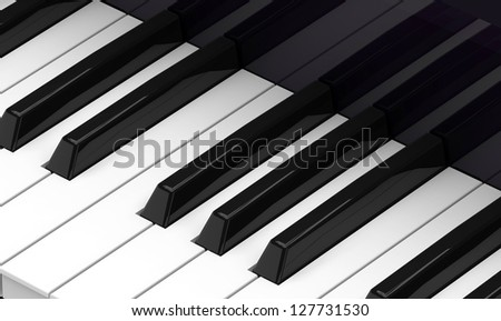 piano keyboard on black level.