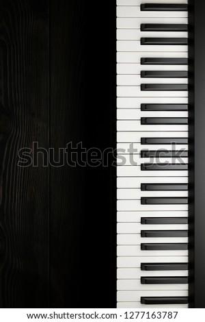 Piano keyboard on dark background #1277163787