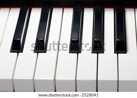 Piano keyboard top view