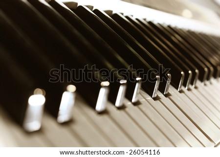 Piano keypad - stock photo