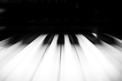 Piano Keys Flying past speed.