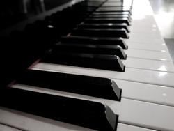 Piano keys in vintage tone