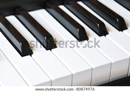 "Piano keys; ""The piano is a monster who growls when you touch its teeth"""
