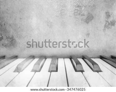 Piano keys - vintage music background