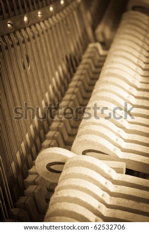 Piano Music - stock photo
