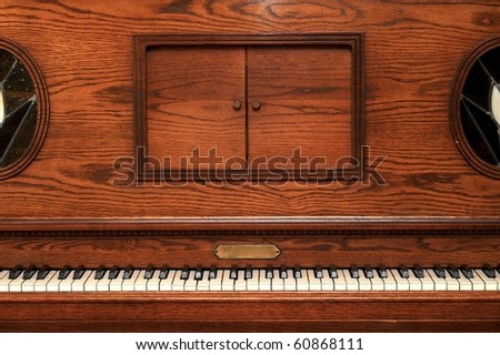 piano old wooden - stock photo