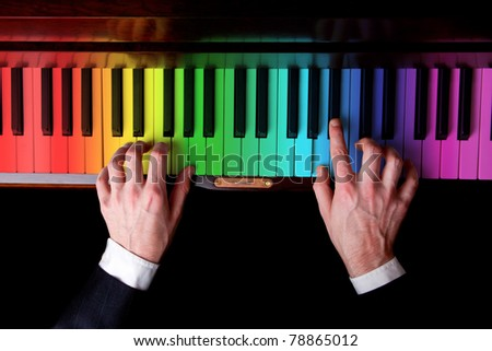 Piano player music is fun