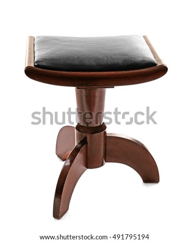 Piano stool isolated on white #491795194