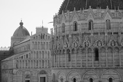 Piazza dei Miracoli, Cathedral, Baptistery and Tower, Pisa, Tusc