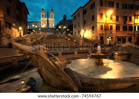 Piazza di Spagna at Sunrise, Italy