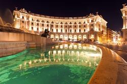 Piazza Repubblica, Rome at night