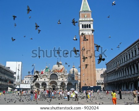 piazza san marco at venice italy