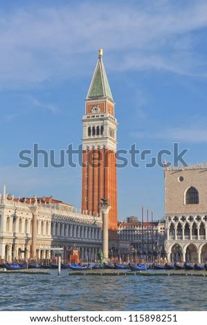 Piazza San Marco church square in Venice (Venezia) Italy - stock photo