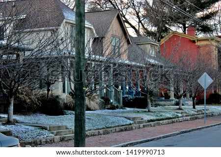 Pic of row houses in Germantown neighborhood of Nashville, Tennessee.