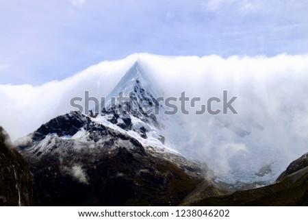Pic, snow, mountains, Cloud