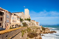Picasso Museum or Musee Picasso in Antibes city, French Riviera or Cote d'Azur in France