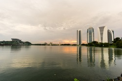 PICC sunset moment with cloudy sky