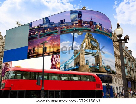 Piccadilly Circus London Images on screens are my own copyright digital photomount photo-illustration