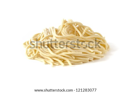 Pici, fresh pasta typical of Tuscany, Italy