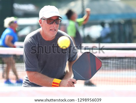 Pickleball tournament concentration #1298956039