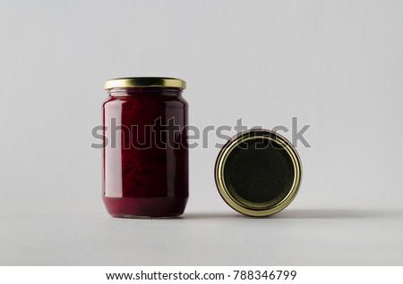 Pickled Beets Jar Mock-Up - Two Jars
