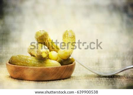 Shutterstock Pickled green gherkins